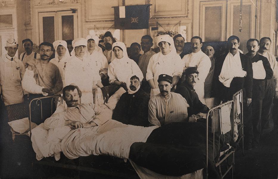 Personnel soignant et blessés